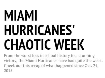 Interactive: Miami Hurricanes tackle chaotic week