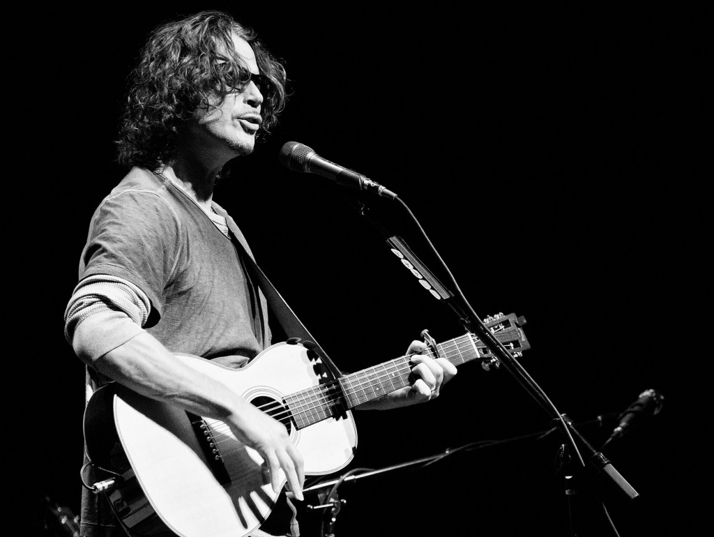 Former lead singer of Soundgarden, Chris Cornell, plays an almost entirely acoustic show for over two and a half hours Thursday night at the Adrienne Arsht Center. Matthew Trabold // Staff Photographer