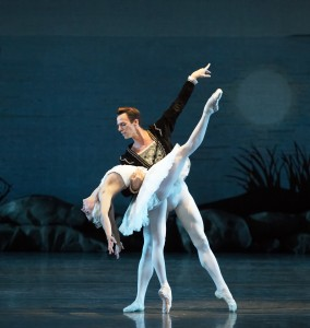 "ON POINTE: Simone Messmer and Rainer Krenstetter in ""Swan Lake."" Photo Courtesy Gene Schiavone."