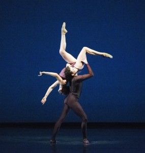 "MID-AIR: Jennifer Kronenberg and Carlos Guerra in ""Viscera."" Photo Courtesy Gene Schiavone."