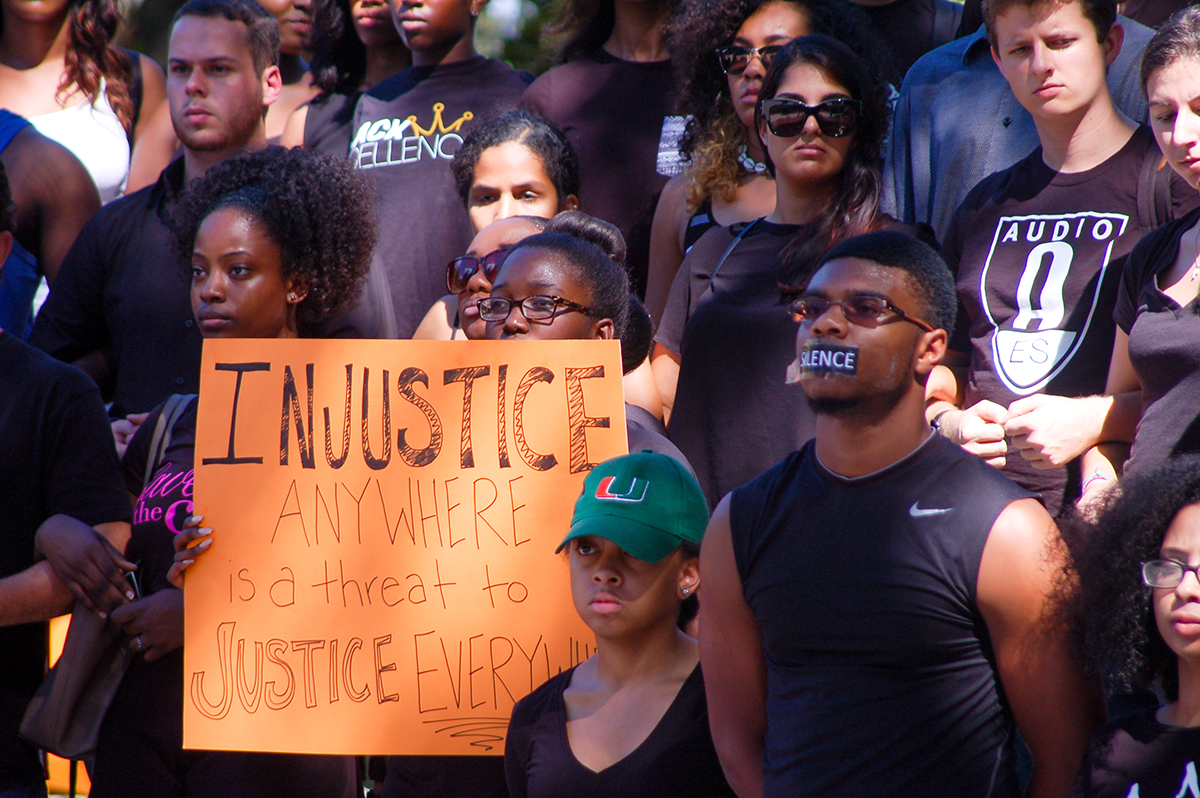 Silent demonstration spreads awareness of race relations at
