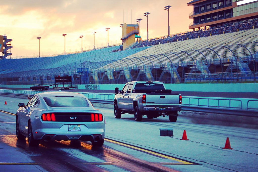 Fast Lane Fridays, hosted by Miami-Homestead Speedway, is a six-hour long drag racing event that occurs on a monthly basis. Racing enthusiasts can pay $20 to legally race on an eighth of a mile long drag strip. Photo Courtesy Homestead-Miami Speedway