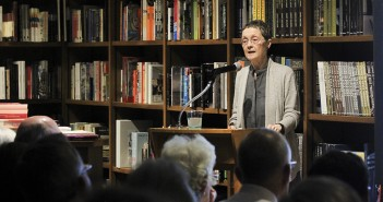 "Historian Dr. Mary Lindemann talks about her new book ""The Merchant Republics: Amsterdam, Antwerp, and Hamburg"" at Books and Books Wednesday night. ""The Merchant Republics"" is the sixth book she has published. Victoria McKaba // Assistant Photo Editor"
