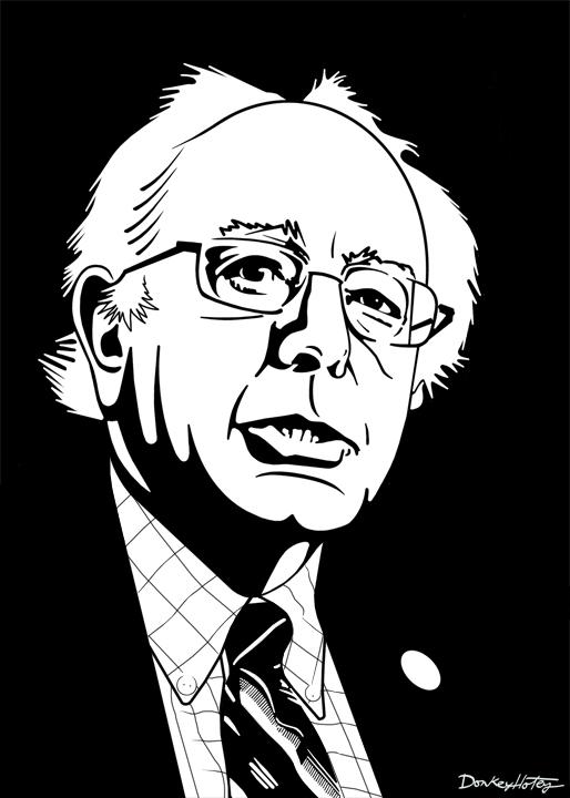 Senator Bernie Sanders too cool for school