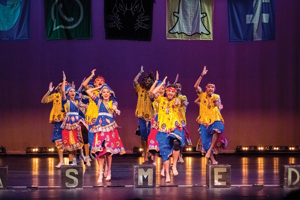 University of Florida's GatorRaas takes the stage for the UM Indian Student Association's annual Miami Mayhem garba/raas dance competition Saturday evening at the Julius Littman Performing Arts Theater. Shreya Chidarala // Staff Photographer