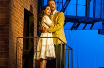 Sarah Amengual as Maria and Tim Quartier as Tony in Actors' Playhouse at the Miracle Theatre's production of West Side Story. Photo Courtesy George Schiavone