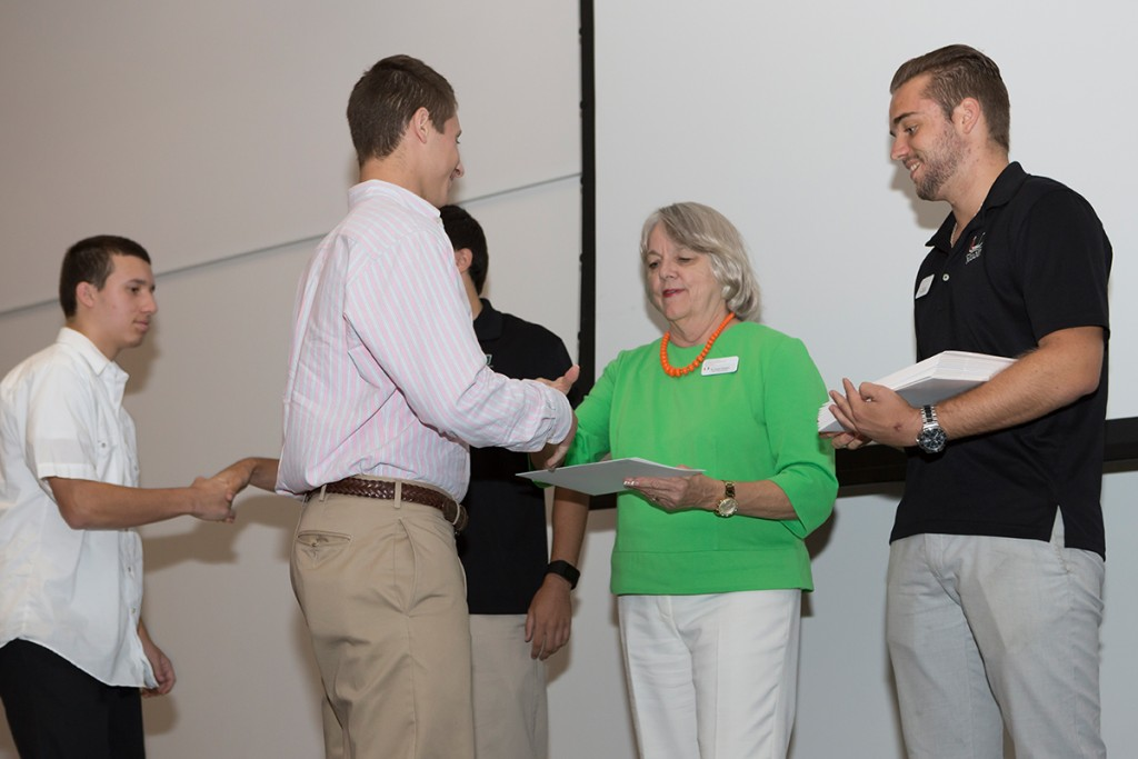 High school students in the 2015 UM Summer Scholars Program conclude their program with the Certificate Ceremony. Photo Courtesy Division of Continuing Education and International Education