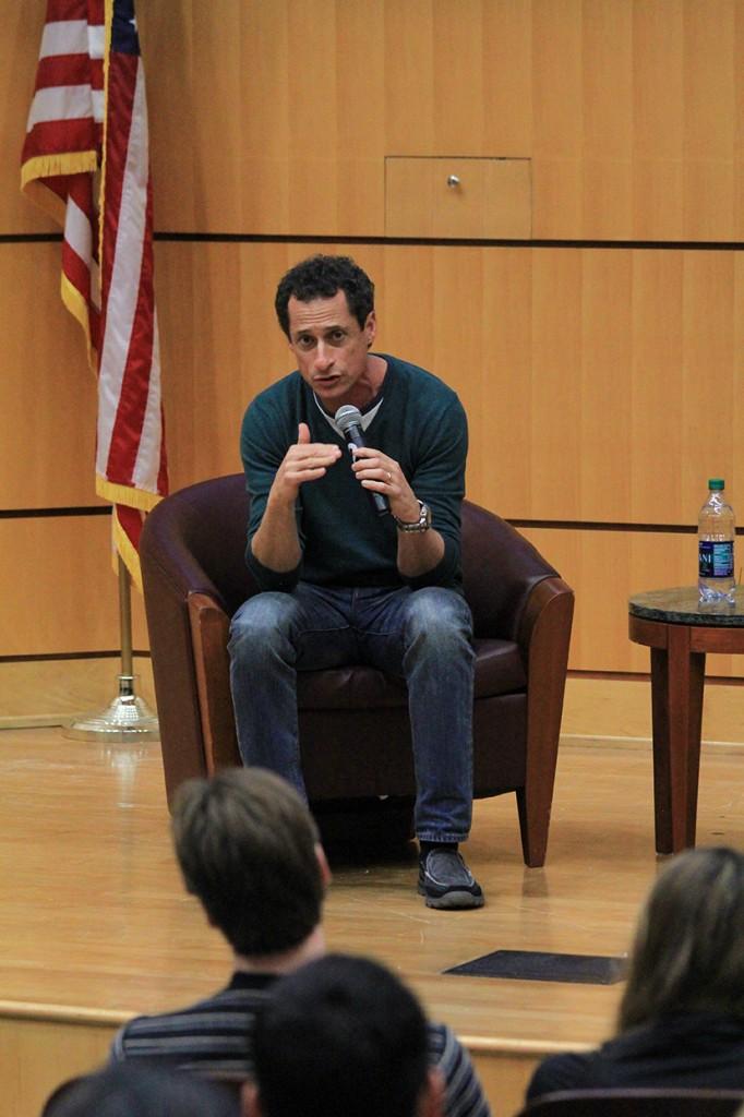 Former congressmen Anthony Weiner, Joe Garcia discuss modern political issues, demographics