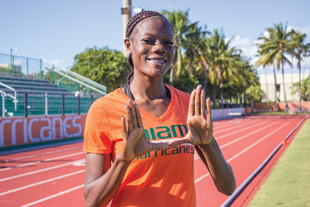 Record-holder Shakima Wimbley races against self-doubt