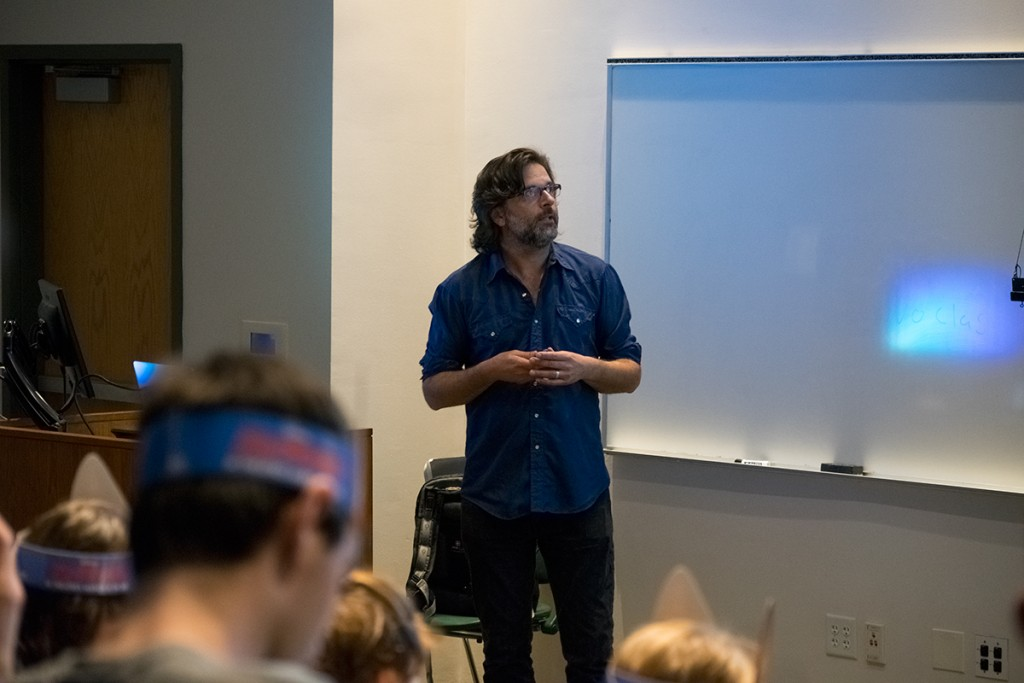 "Matthias Lechner, art director of environments for Disney's new animation film ""Zootopia"", shares his experiences from working on the film. Evelyn Choi // Staff Photographer"