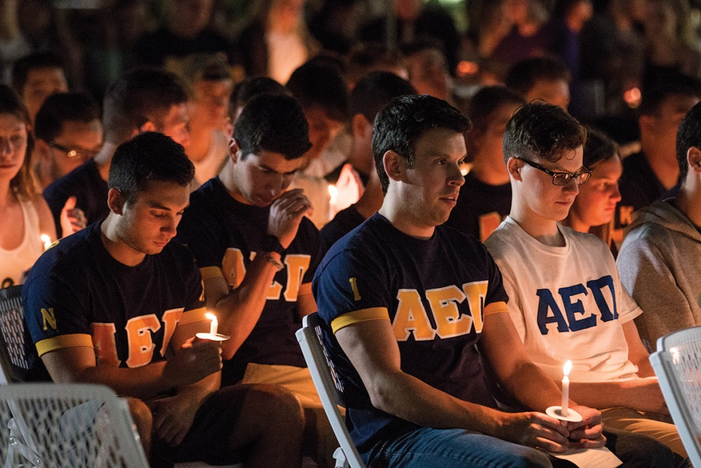 Peers remember Adam Levine's campus-wide impact at vigil