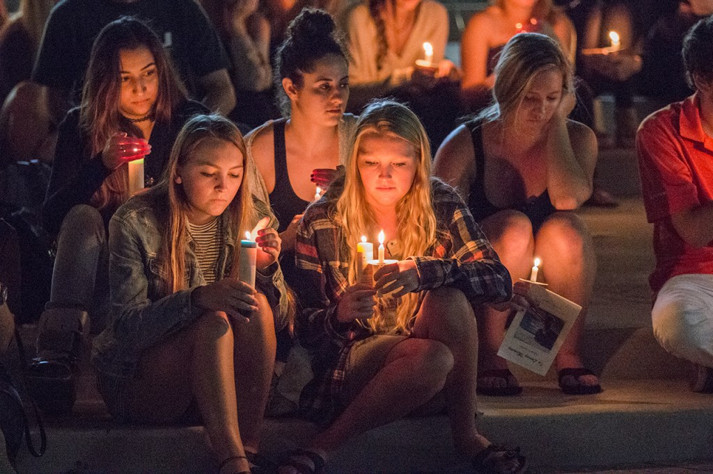 Photo Gallery: Candlelight Vigil for senior Adam Levine