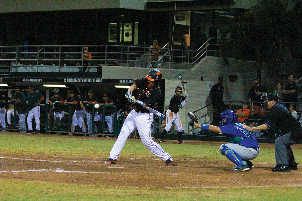 ... Collins's two home runs lift Hurricanes past Florida Gulf Coast 6-2