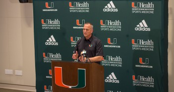 Marc Richt discusses the football team's future at Signing Day  in February at the Schwartz Athletic Center. Kawan Amelung // Staff Photographer