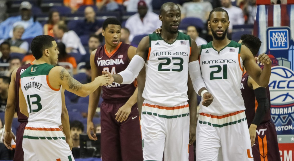 Hurricanes men's basketball opens ACC Tournament with 88-82 win over Virginia Tech