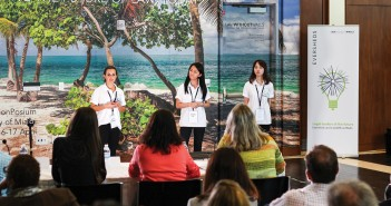 Students speak at the LawWithoutWalls conference Sunday afternoon in the Newman Alumni Center. Presented by Miami Law, LawWithoutWalls is a part-virtual, global collaboration of 750+ agents dedicated to changing how lawyers and business professionals partner to solve problems. Kawan Amelung // Staff Photographer
