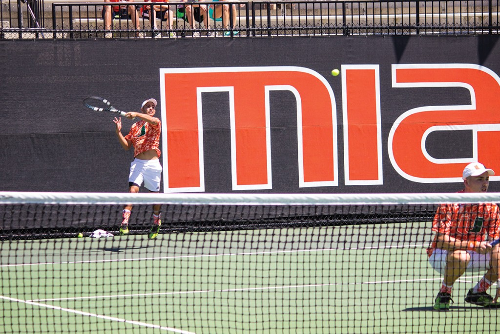 Miami tennis performs well in singles play, winning match against Louisville
