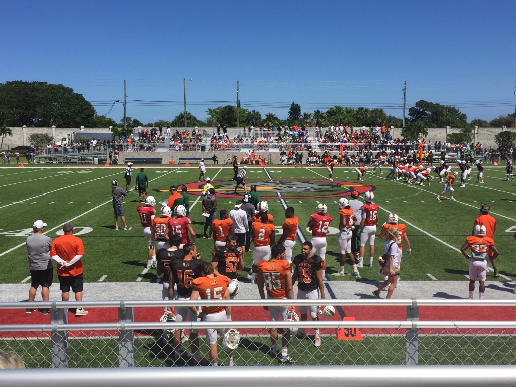 Hurricanes football holds first public scrimmage since Mark Richt's arrival