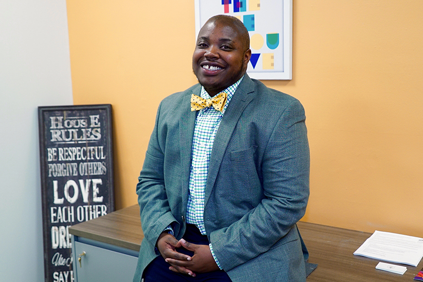 "Dr. Vanidy ""Van"" Bailey is the inaugural director of the new LGBTQ Student Center, a resource for gay, lesbian, bisexual, transgender, queer and questioning students. Hunter Crenian // Staff Photographer"