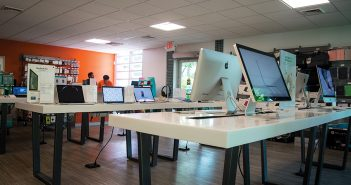 """""""The U Tech Source"""" inside the Campus Store, formerly known as the UM Bookstore, will offer students technological support for their Apple products. The Campus Store also hosts a USPS kiosk. Evelyn Choi // Staff Photographer"""