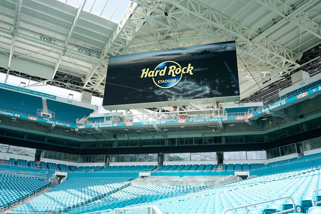 Hard Rock Stadium comes with benefits for game day experience