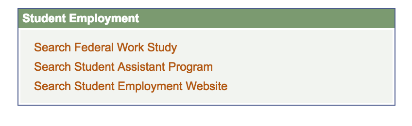 Student employment options through UM resources