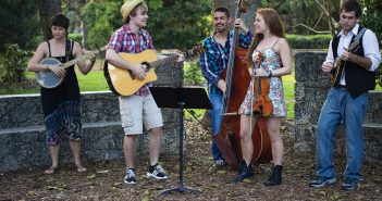 Big City Folk Band plays a concert for the local community in the UM Arboretum. The band, composed of UM students, performs original and cover songs in both the traditional folk and country style. Hallee Meltzer // Photo Editor