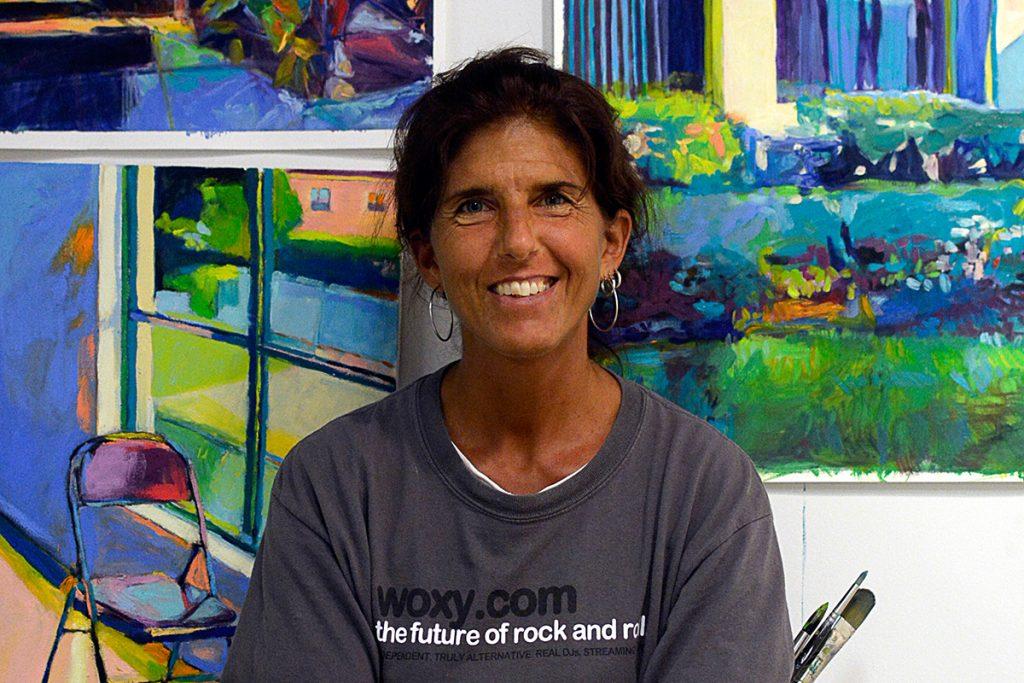 Leaving behind teaching career, artist describes symbolism of her work