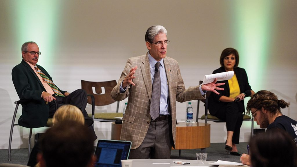 Frenk focuses on education, students during town hall