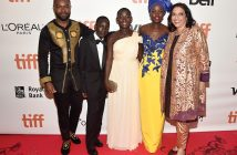 "Actors David Oyelowo, Martin Kabanza, Madina Nalwanga, Lupita Nyong'o and director Mira Nair arrive at the world premiere of Disney's ""Queen of Katwe"" at Roy Thompson Hall as part of the 2016 Toronto Film Festival. Photo courtesy Sly Fox"