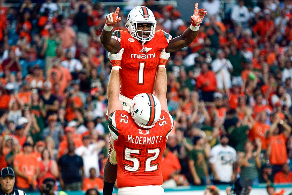 Strong running game nets Hurricanes a victory over FAU, 38-10