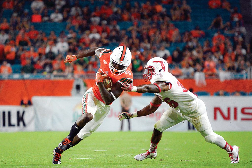 Hurricanes football ranked No. 10 in polls