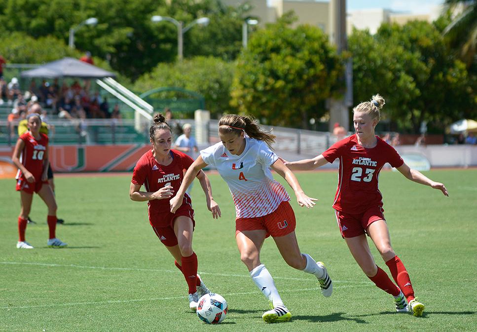 UM women's soccer defeats FAU, improves to 5-1