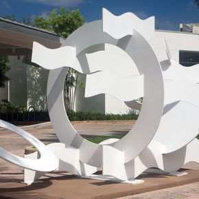 Hans van de Bovenkamp's Circles and Waves by the Lowe Art Museum Photo courtesy Lowe Art Museum