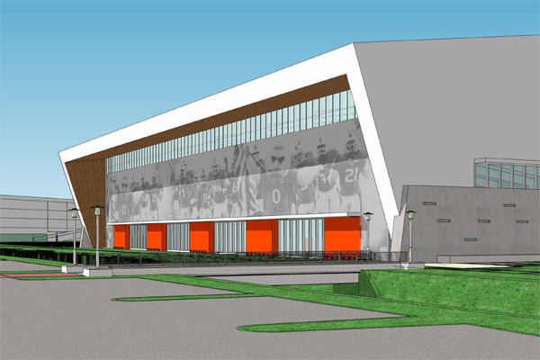Miami athletics unveils plans for new football practice facility