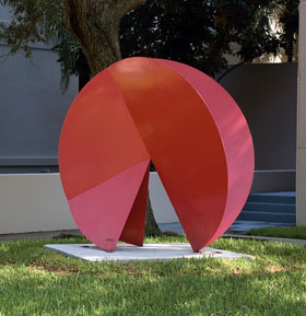 Jean Claude Rigaud's Composition in Circumference by Hecht Residential College, Pentland Tower Photo courtesy Lowe Art Museum