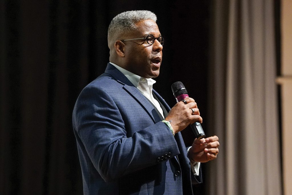 Prominent Republican donor pledges support for Clinton, former congressman Allen West delivers counter-perspective in guest lecture