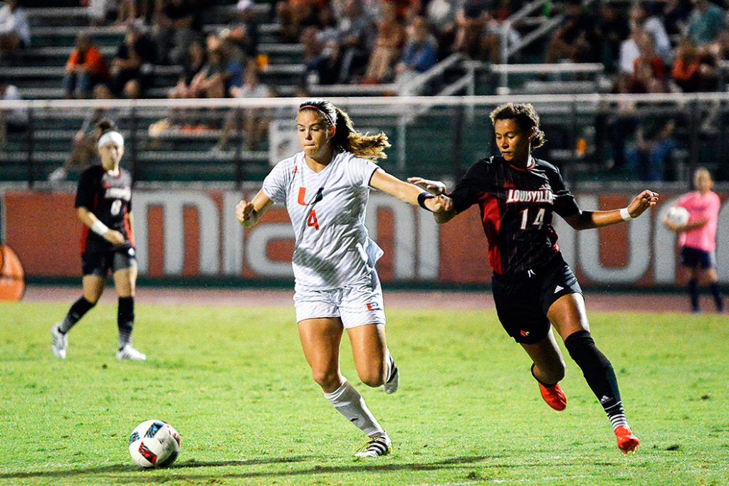 Johnson pulls off hat trick, Canes shutout the Louisville Cardinals 3-0