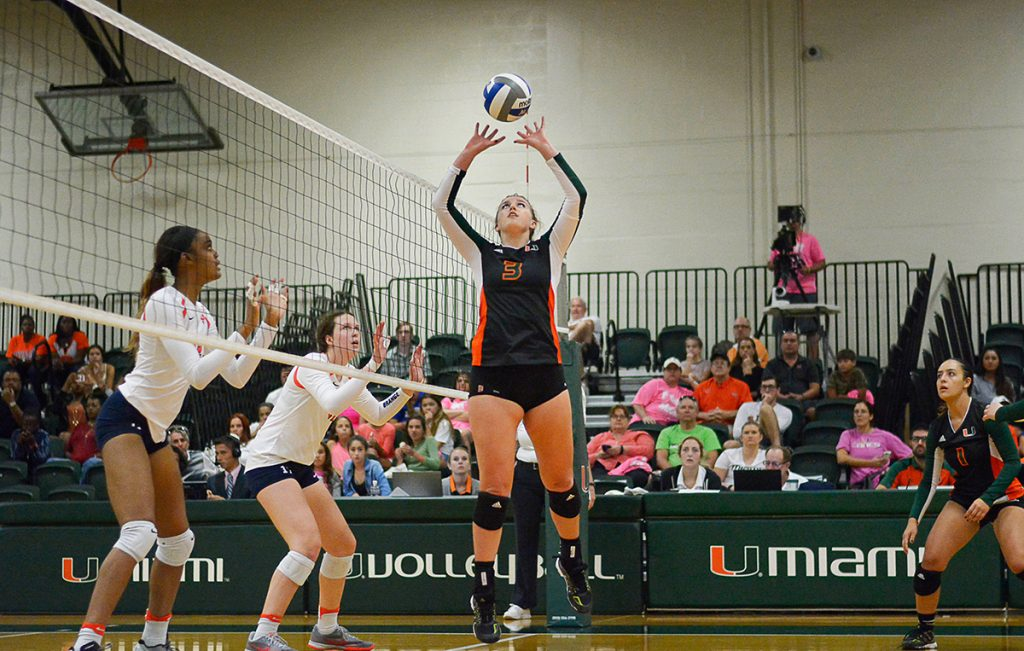 Despite career performance from Strantzali, Miami volleyball drops match to Syracuse 3-1