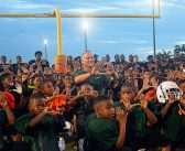 Mark Richt leaves young athletes with a message during final local park visit