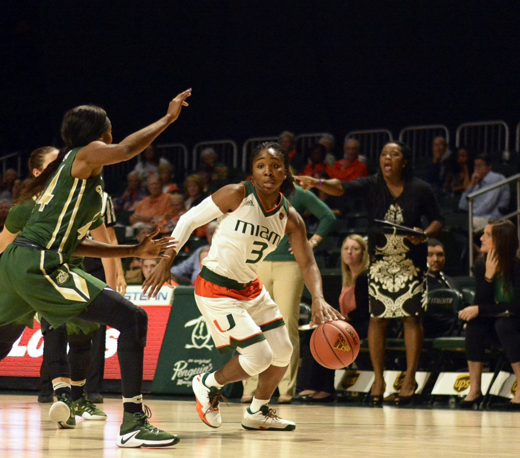 Jessica Thomas leads Hurricanes to 80-46 victory over Charlotte 49ers