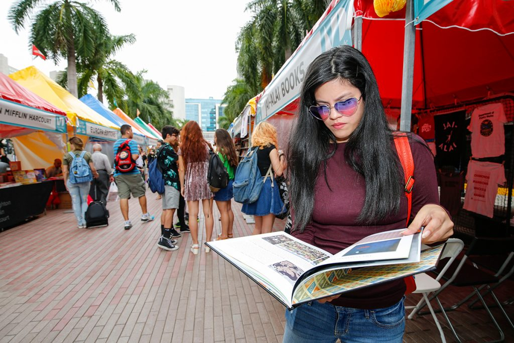 Miami Book Fair Internationals' weekend-long Street Fair starts Friday, Nov. 18, at the MDC Wolfson Campus in Downtown Miami. Photo Courtesy Miami Book Fair