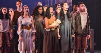"""The cast of  """"Children of Eden"""" acts as a chorus of storytellers during the show's performance. """"Children of Eden"""" runs through  November 19 at The Jerry Herman Ring Theatre. Amanda Prats // Staff Photographer"""