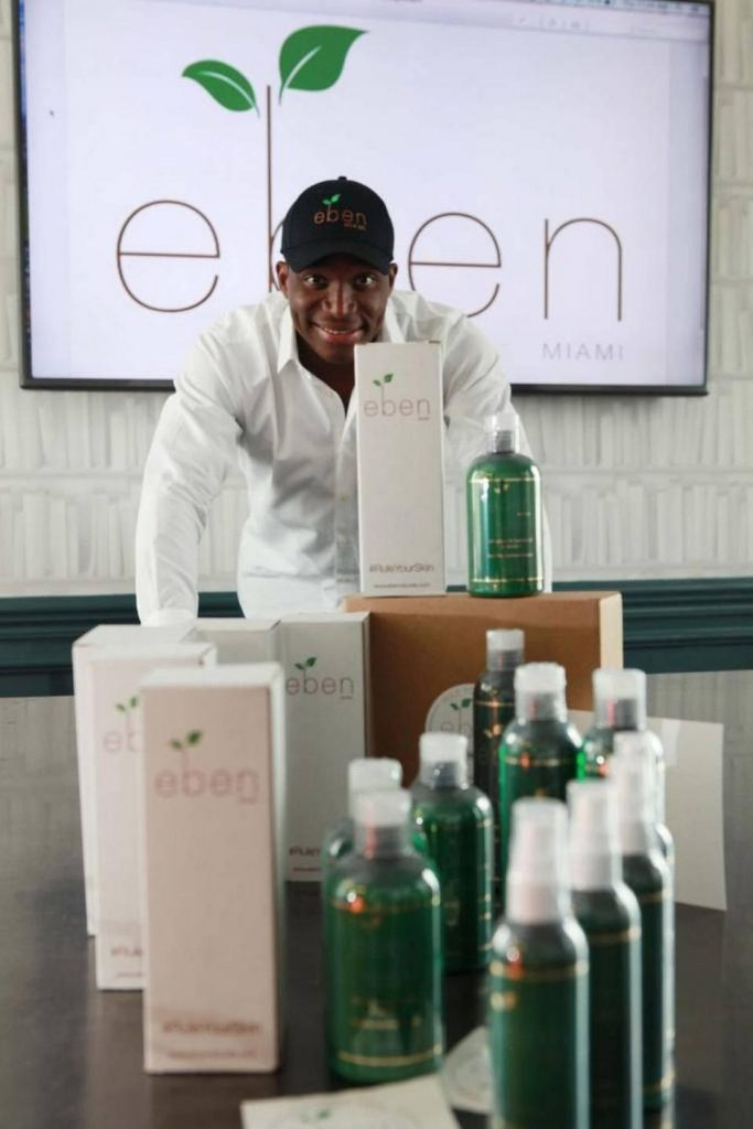 Eben Naturals founder Milain David sought help from The Launch Pad's services while he was a student entrepreneur at UM. Eben Naturals sells lotion, soap and shampoo specifically geared toward minority women. Photo courtesy Milain David.