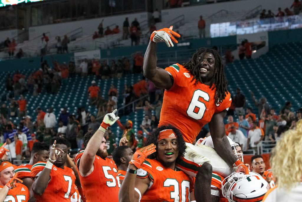 Photo of the Week: Hurricanes football Senior Sendoff