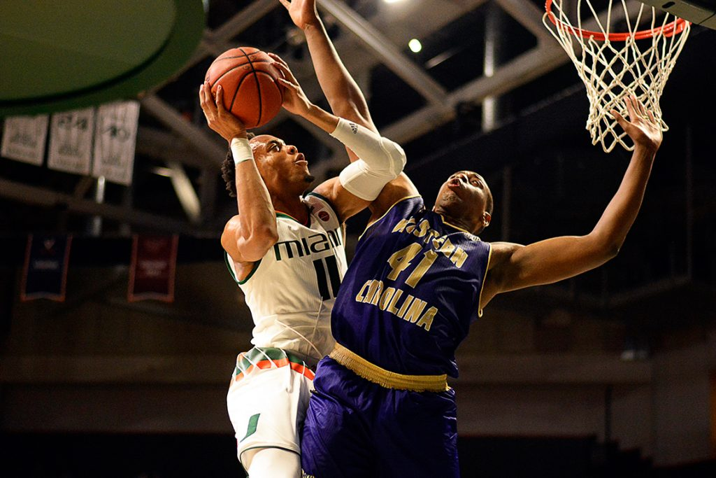Canes Hoops prevail in regular season opener against Western Carolina, 92-43