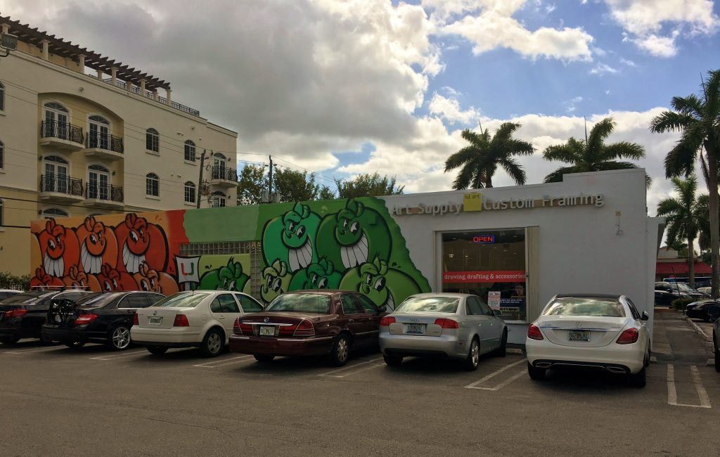 Mural painted outside local art supply store causes controversy