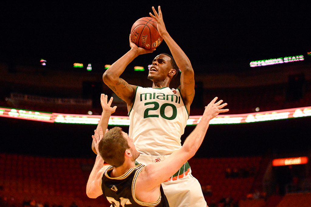 Miami defeats Wofford 74-57 in HoopHall Miami Invitational
