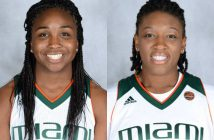 Senior guard Jessica Thomas and redshirt senior forward Keyona Hayes