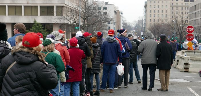 Long lines, protesters dampen Inauguration Day for Trump supporters